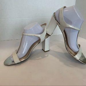 FRANCO SARTO Evaline style 11M white heel sandals
